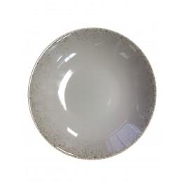 [215mm] Assiette creuse coupe - Particules gris