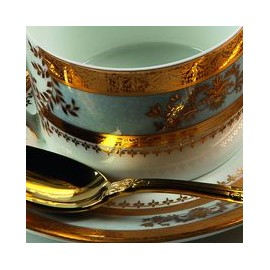 [220mm] Assiette creuse à aile - Orsay Blanc