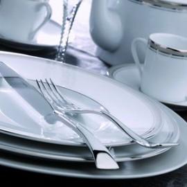 [320mm] Assiette de présentation - Excellence poudré gris