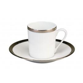 [11cl] Tasse café et sa soucoupe - Versaille platine