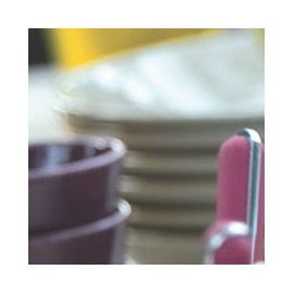 [210mm] Assiette dessert - Colorama Rouge
