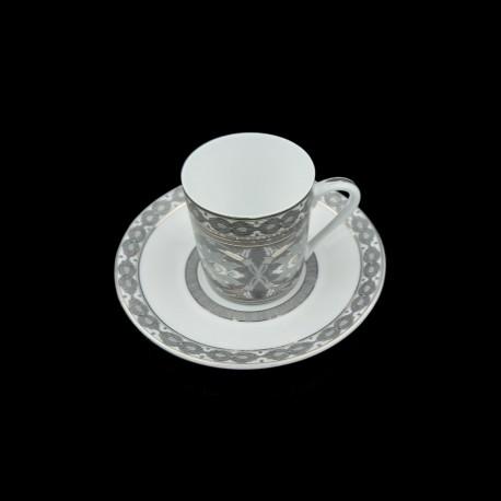 [8cl] Tasse café et sa soucoupe - Fleur de Nuit