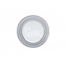 [265mm] Assiette plate - Arcades gris platine