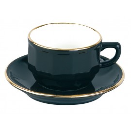 [15cl] Tasse thé empilable - Flora Noir filet Or