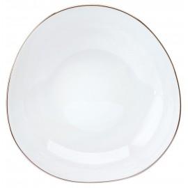 [180mm] Assiette creuse salade/céréales - Galet platine