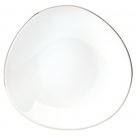 [220mm] Assiette creuse coupe - Galet platine