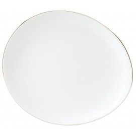 [240mm] Assiette dessert - Galet platine