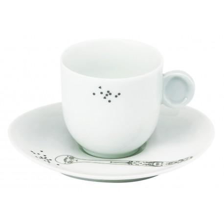 Paire tasse café (avec anse)