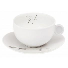 Tasse thé et sa soucoupe (avec anse)